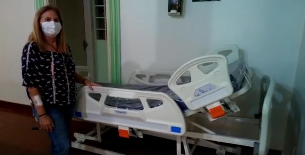 Hoje recebemos 3 CAMAS HOSPITALAR MANUAL LINHA FLEX CARE