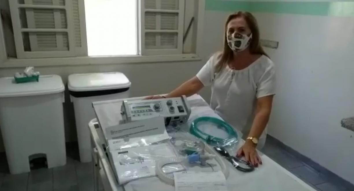 Hoje recebemos mais um respirador